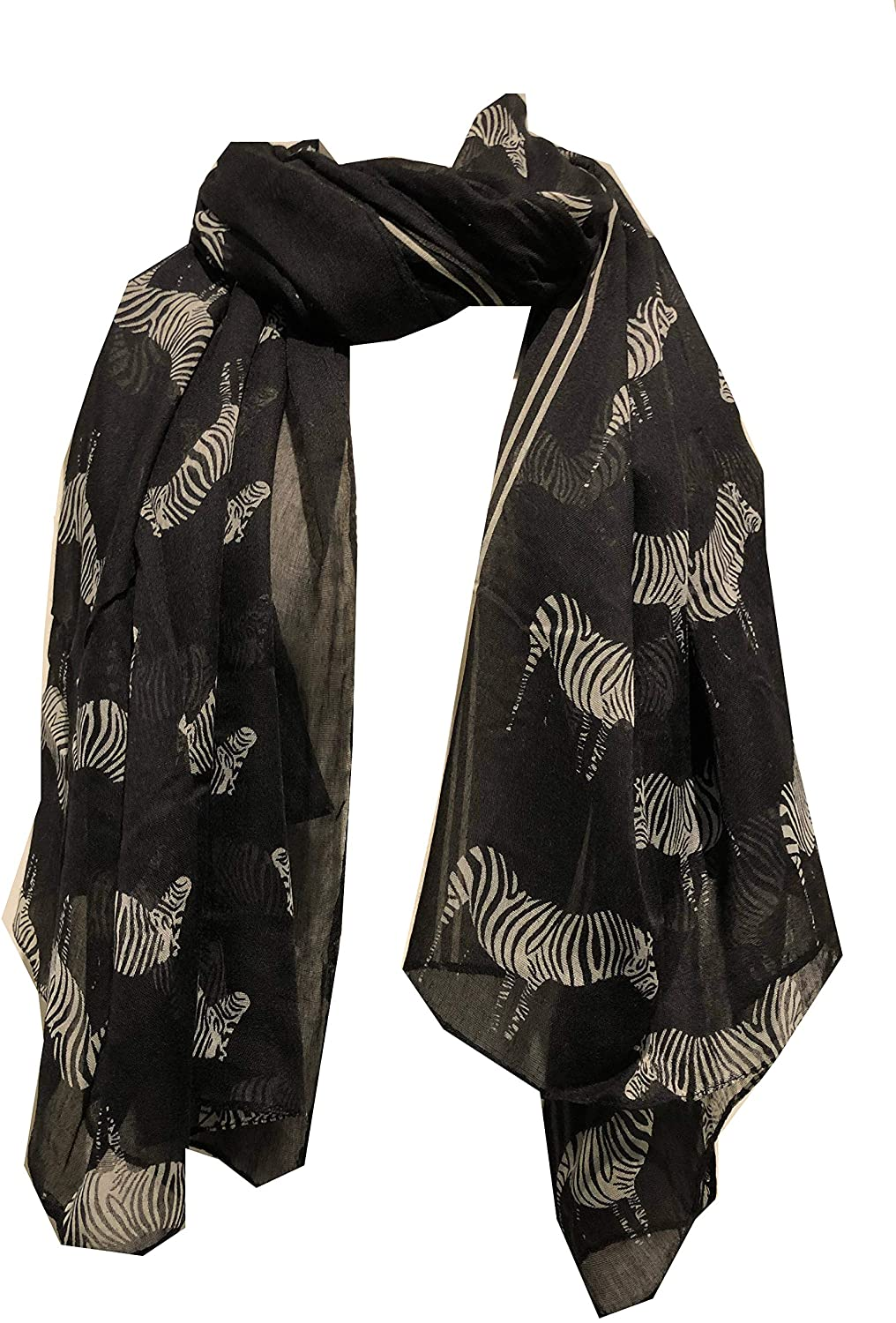 Pamper Yourself Now Black Zebra Animal Print Large Scarf Soft Summer Fashion London Fashion Fab Gift