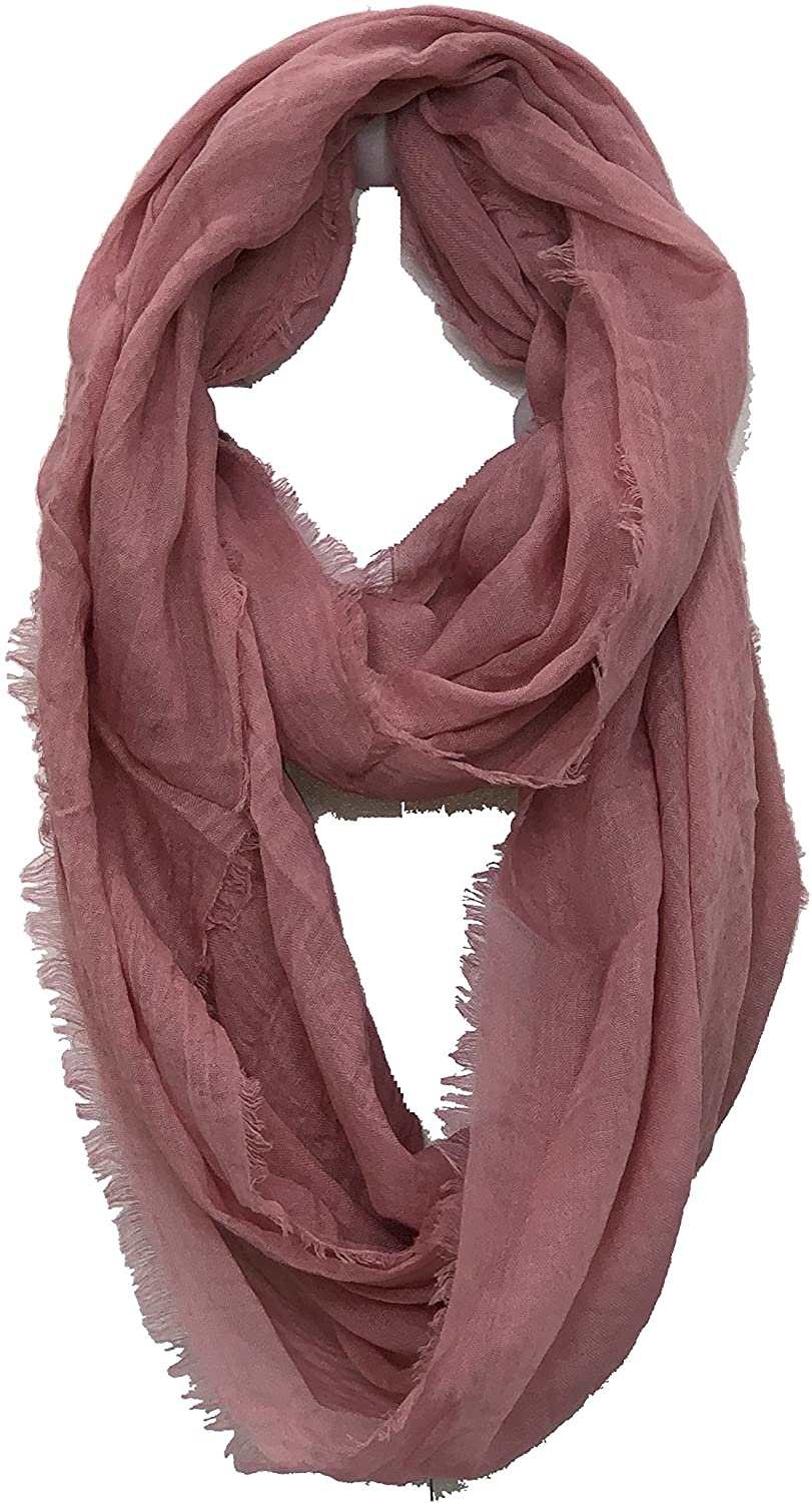 Pamper Yourself Now Pink plain snood with frayed edge