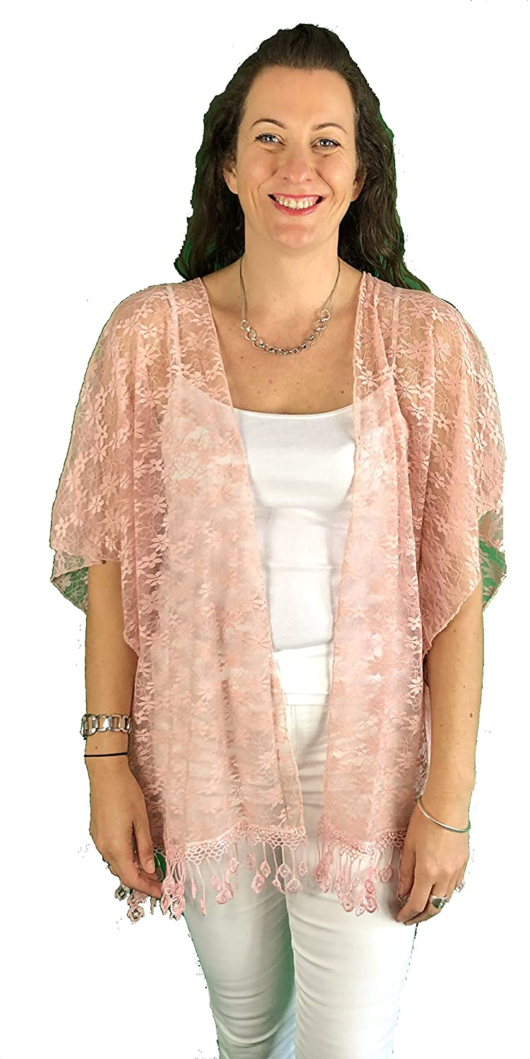 Pamper Yourself Now ltd Pink lace wrap 100% Polyester (AA71)