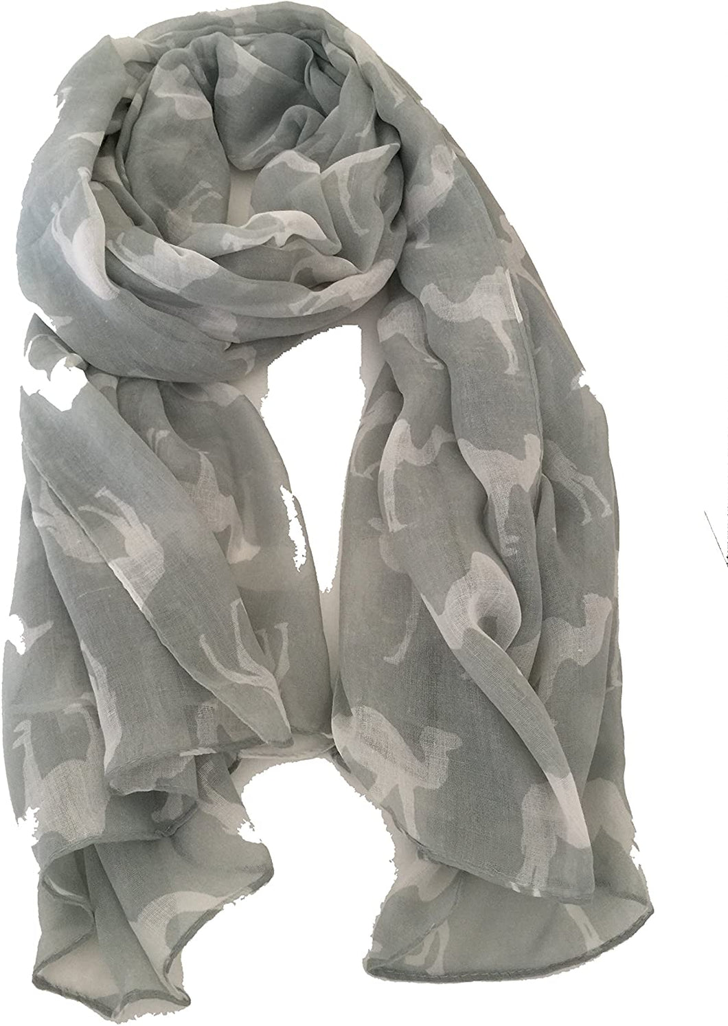 Pale Green Camel Long Scarf