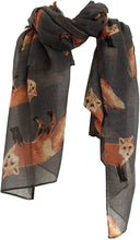 Load image into Gallery viewer, Pamper Yourself Now Dark Grey Fox Fashion Scarf Long Soft wrap/Sarong