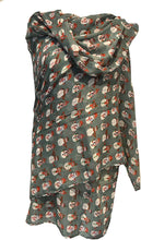 Load image into Gallery viewer, Pamper Yourself Now Green Snowman Design Ladies Scarf. Great Christmas Scarf/wrap Lovely Present.