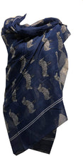 Load image into Gallery viewer, Pamper Yourself Now Navy Blue Zebra Animal Print Large Scarf Soft Summer Fashion London Fashion Fab Gift
