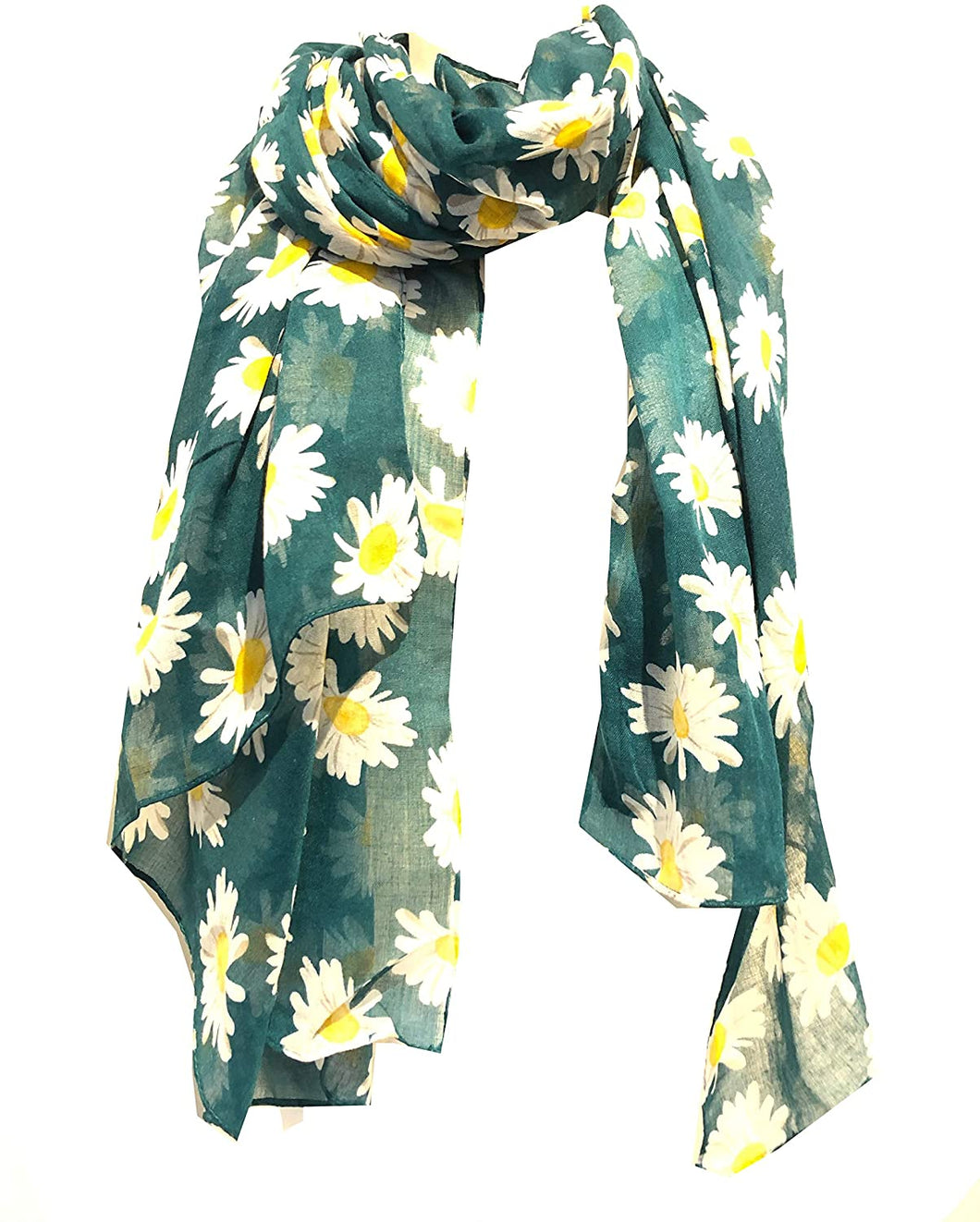 Pamper Yourself Now Green Daisy Scarf Lovely Soft Scarf