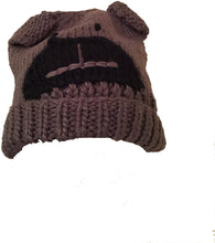 Load image into Gallery viewer, Pamper Yourself Now Grey Beanie hat with buldog Design