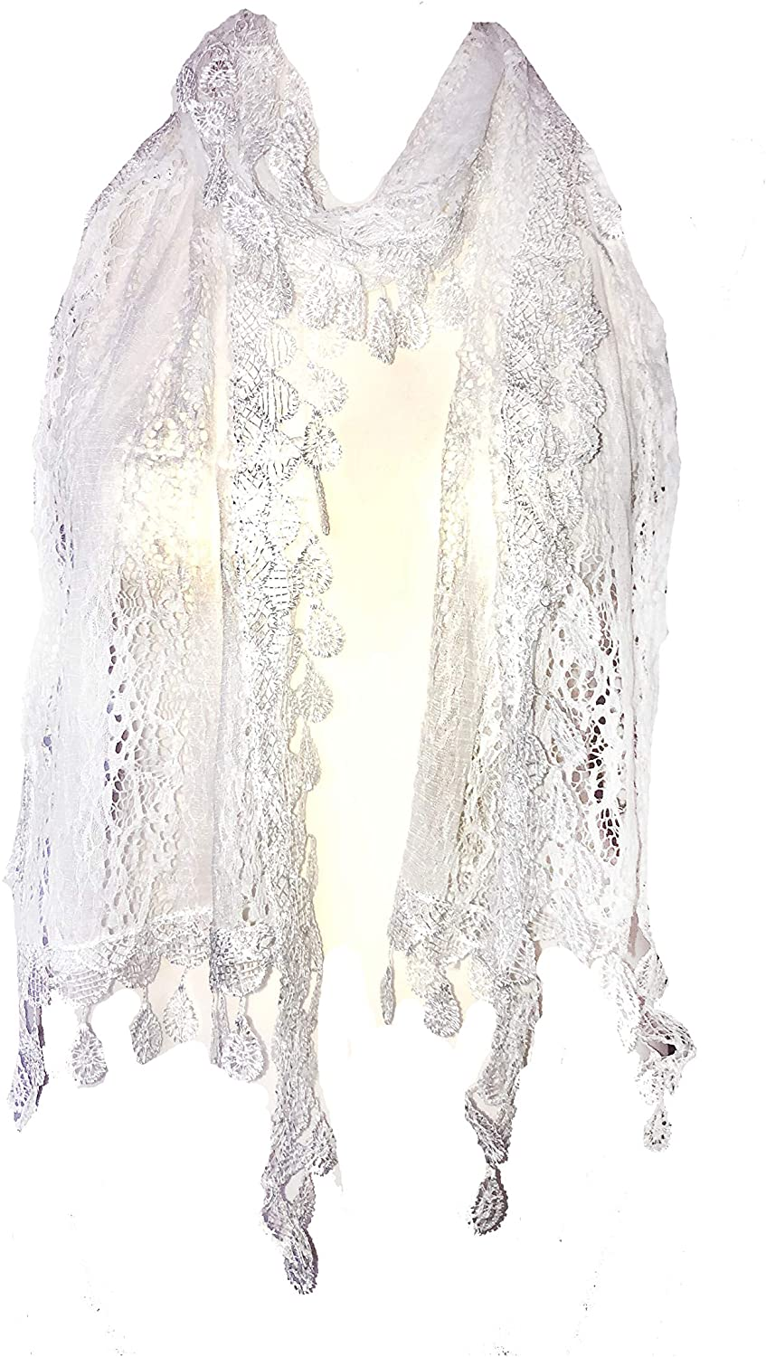 Pamper yourself White Leaf Lace Scarf
