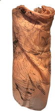Load image into Gallery viewer, Peach with Brown Eagle and Skull Design Scarf/wrap.