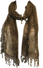 Load image into Gallery viewer, Flower lace long lightweight scarf Lovely soft scarf for spring/summer.