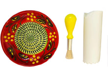 Load image into Gallery viewer, Red/Green Olive Design (7) Garlic and Ginger Grater Set with Brush and Peeler. A Must for Every Foodie who Loves to Cook.
