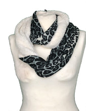 Load image into Gallery viewer, Pamper Yourself Now Chunky black and white leopard print snood
