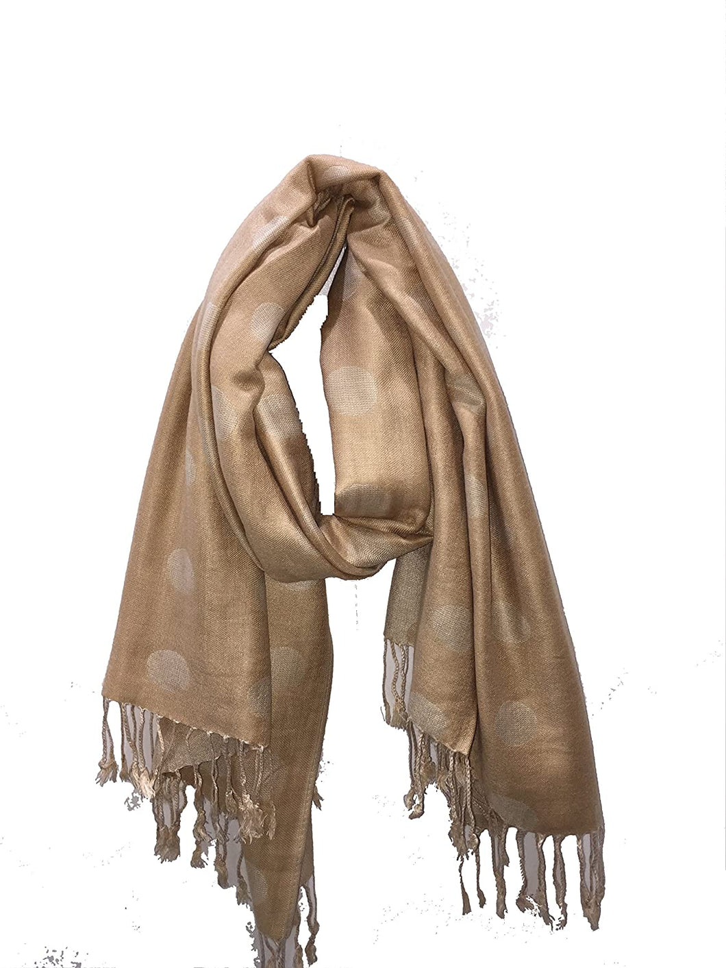 Dark beige with light beige spots Pashmina Style Scarf Lovely Summer wrap