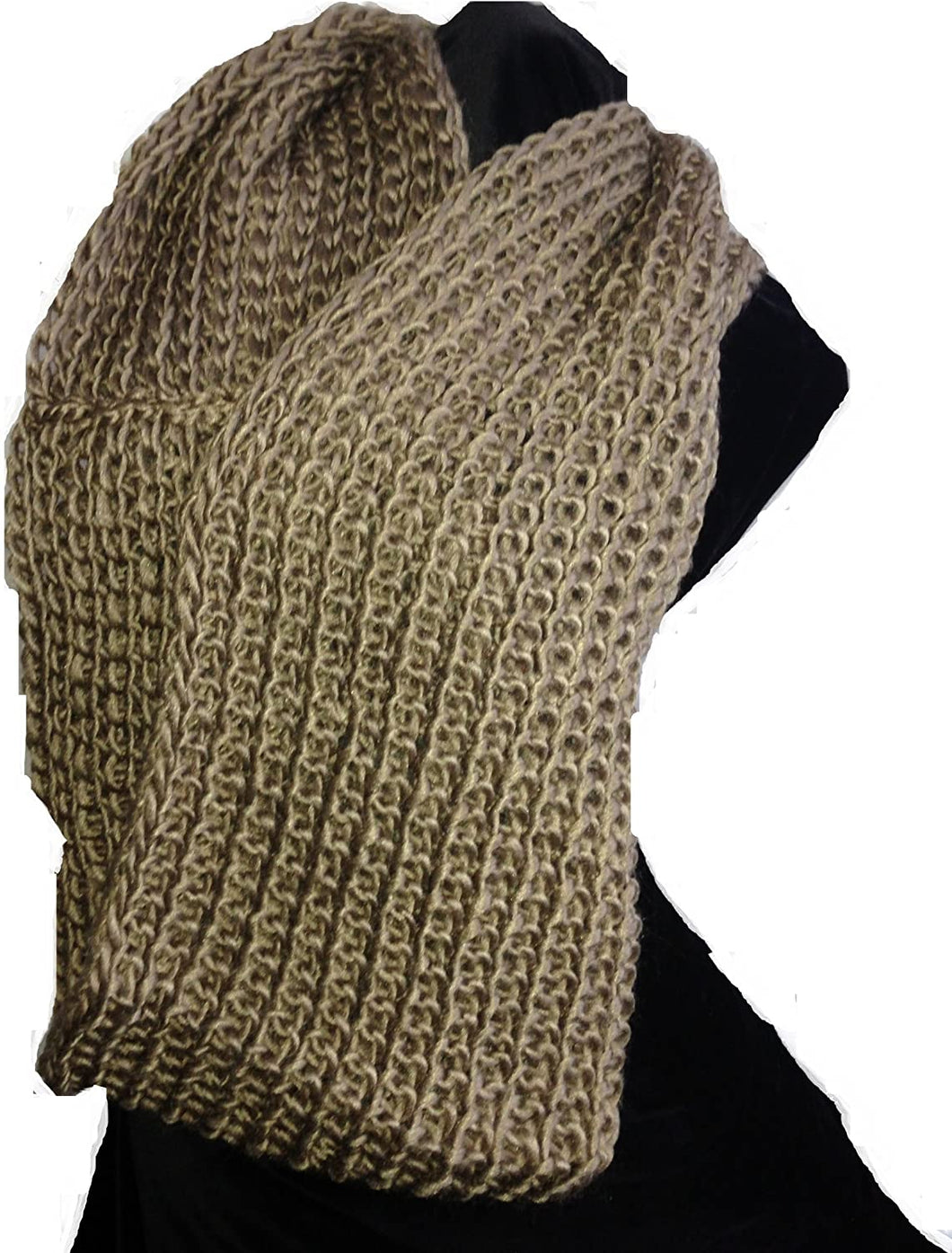 Pamper Yourself Now Beige Snood Lovely Winter Warm Circle Scarf