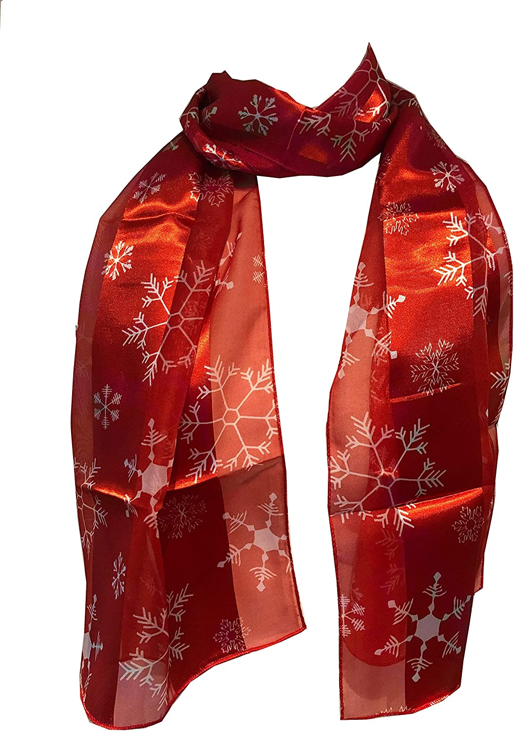 Pamper Yourself Now Red Christmas Snowflake Design Scarf, Lovely Chrismas Scarf Great for Presents.