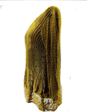 Load image into Gallery viewer, Pamper Yourself Now ltd Ladies Mustard Crochet lace Long Sleeve top. Made in Italy (AA27)