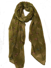 Load image into Gallery viewer, Pamper Yourself Now Mustard Dragonfly Daydream Design Soft Long Scarf/wrap