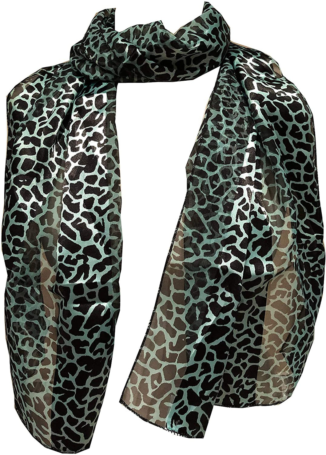 Leopard print long thin chiffon scarf, lovely thin neck scarves, great present.