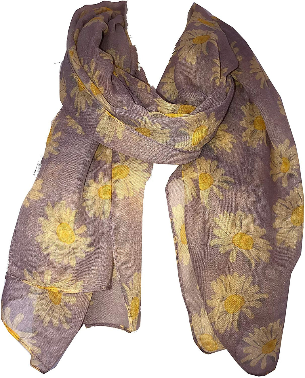 Pamper Yourself Now Lilac Daisy Scarf Lovely Soft Scarf