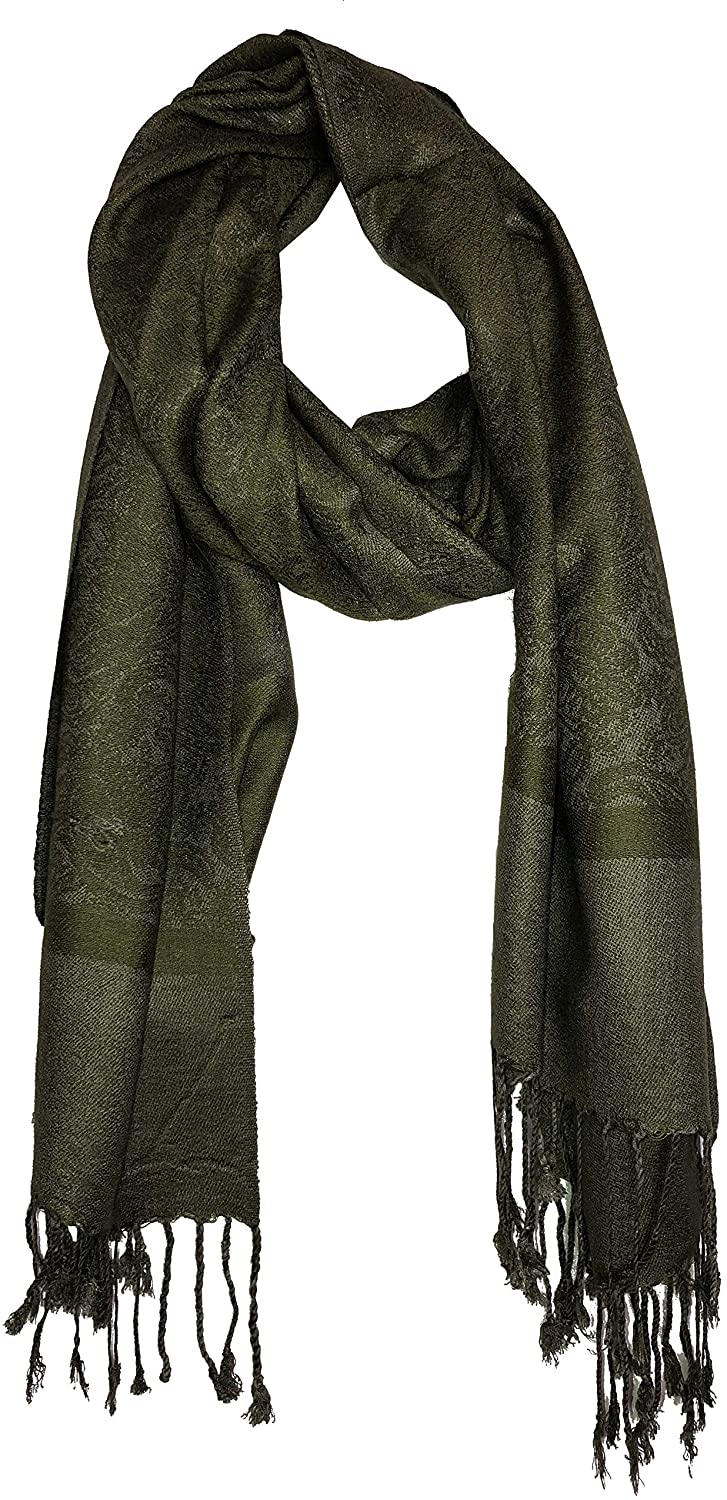 Olive Green Pashmina Style Scarf, Lovely Soft - Lovely Summer wrap, Fantastic Gift