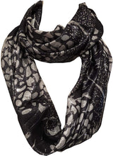 Load image into Gallery viewer, Pamper Yourself Now Bluey/Grey Animal Print Shiny Snood