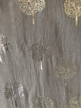 Load image into Gallery viewer, Pamper Yourself Now Light Grey with Silver Foiled Mulberry Tree Design Ladies Scarf/wrap. Great Present for Mum, Sister, Girlfriend or Wife.