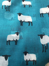 Load image into Gallery viewer, Pamper Yourself Now Green Sheep Design Long Scarf, Great for Presents/Gifts for Sheep Lovers.