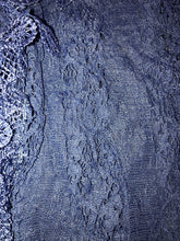 Load image into Gallery viewer, Pamper yourself Blue Leaf Lace Scarf