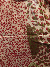 Load image into Gallery viewer, Pamper Yourself Now Red Animal Print Shiny Snood