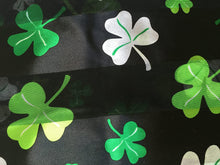 Load image into Gallery viewer, Pamper Yourself Now Big Black with Green Four Leaf Clover Scarf Thin Pretty Scarf