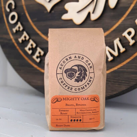 Mighty Oak Coffee beans from Acorn and Oak Coffee Roasters