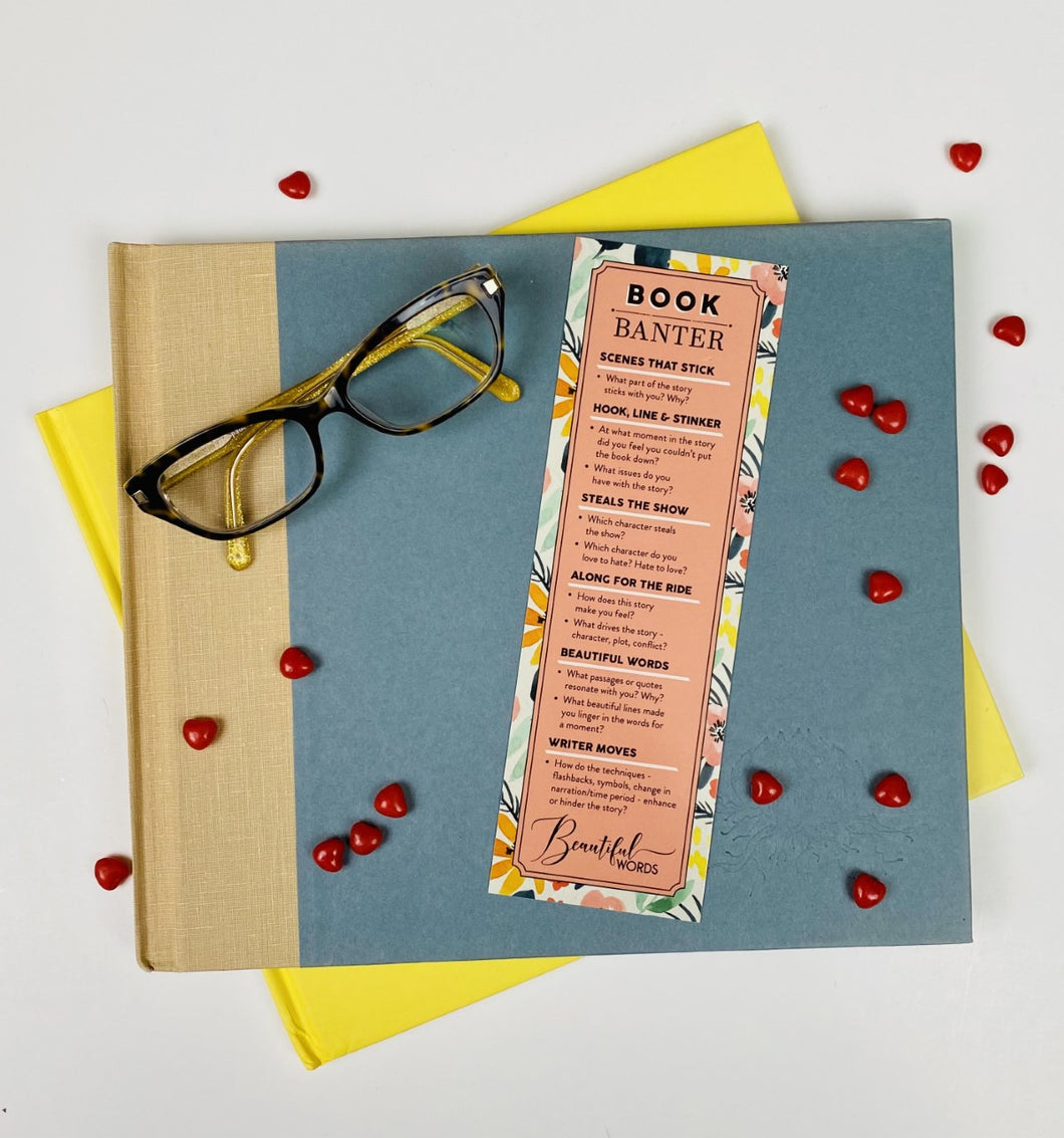 Watercolour Book Banter Bookmark from Beautiful Words