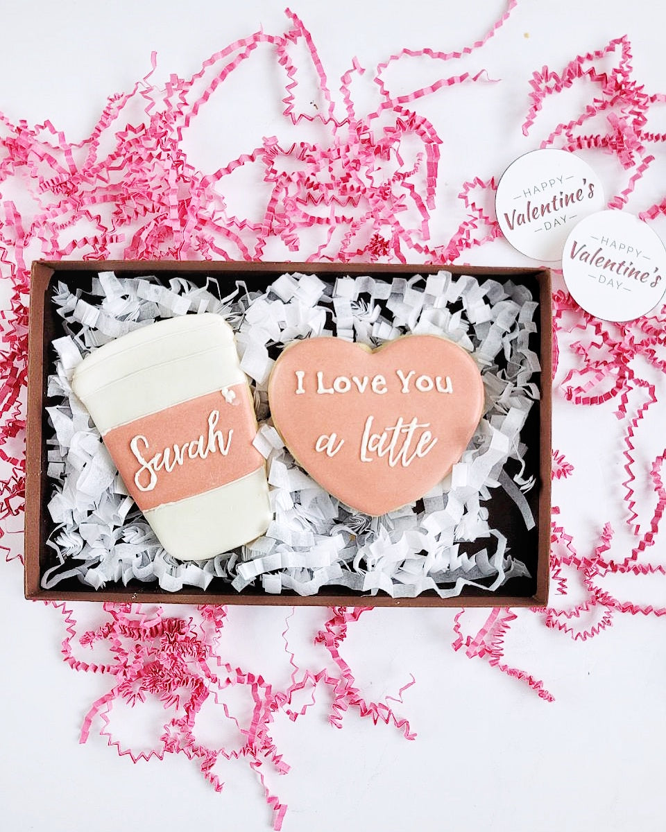 I Love You a Latte Cookie Set from C'est La Sweet