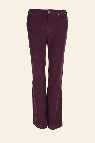 Broek bordeaux in velour