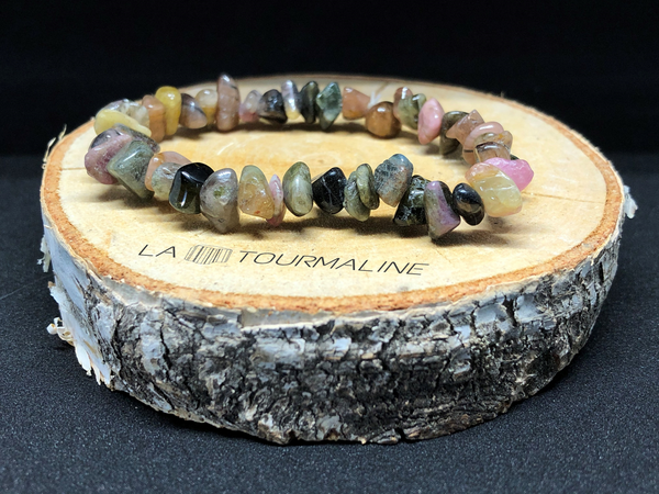 Bracelet tourmaline multicolore baroque