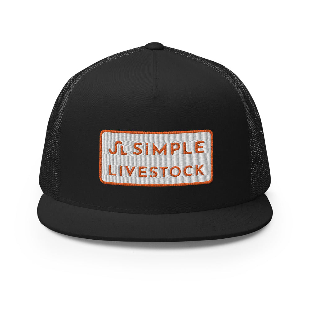 Simple Livestock Patch Trucker Cap