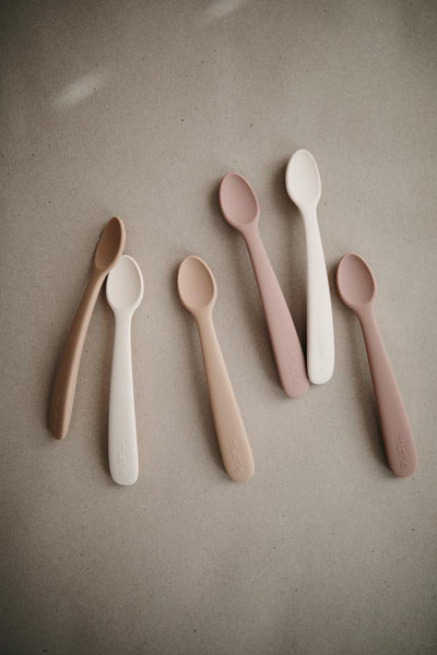 Silicone Feeding Spoons 2 pk - Blush/Shifting Sand