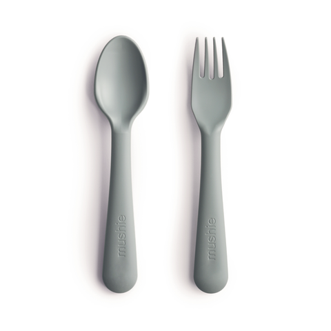 Fork & Spoon Set - Sage