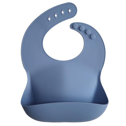 Silicone Baby Bib - Powder Blue