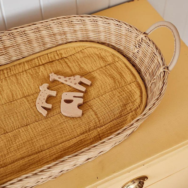 Changing Basket Luxe Cotton Liner - Mustard