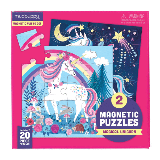 Magical Unicorn Magnetic Puzzle Double-Sided 20pc