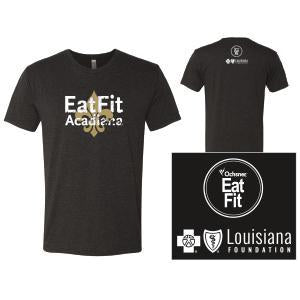 Eat Fit Acadiana T Shirt - Crew