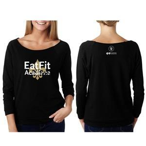 Eat Fit Acadiana Women's French Terry 3/4 Sleeve