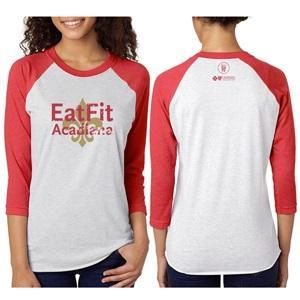 Eat Fit Acadiana Unisex 3/4 Sleeve