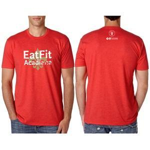 Eat Fit Acadiana T shirt - Premium Crew