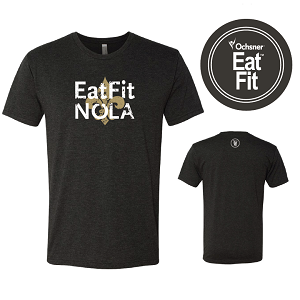 Eat Fit NOLA T Shirt - Crew