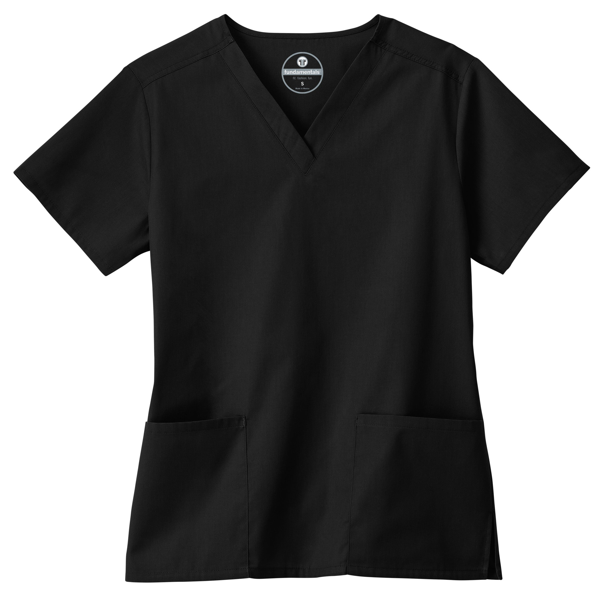 Ladies 2 Pocket V neck Top by Fundamentals w/Ochsner Health logo