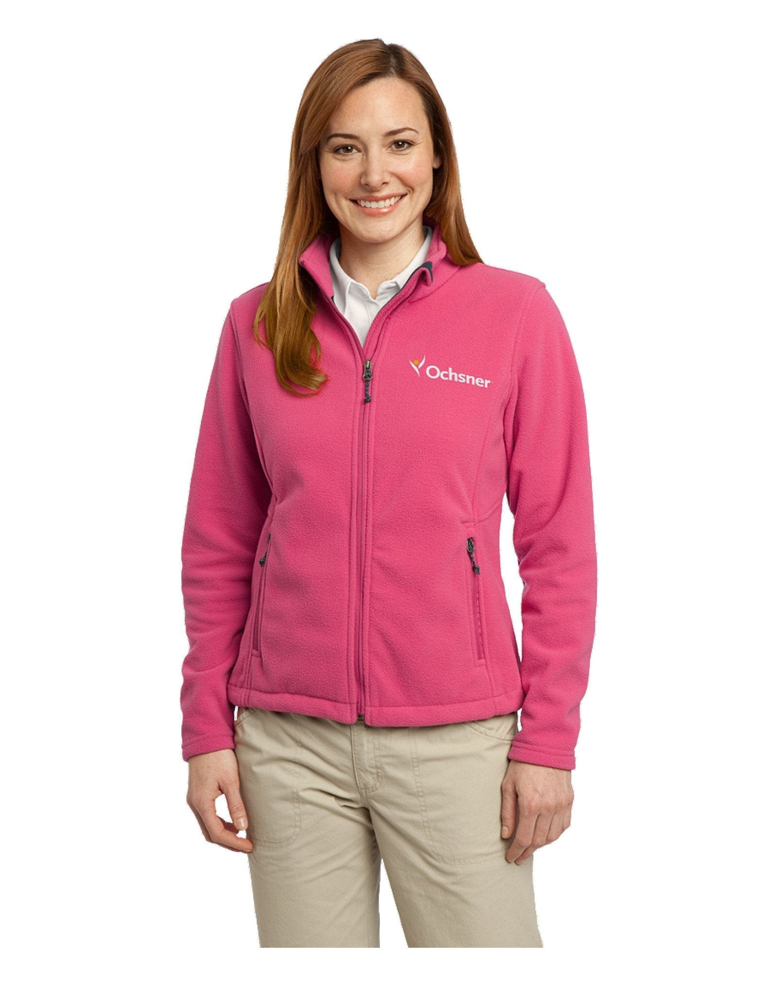 Value Fleece Ladies Jacket w/Ochsner Logo