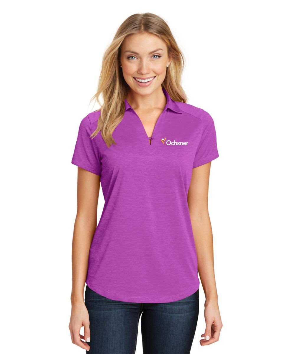 Digi Heather Ladies Performance Polo w/Ochsner Logo