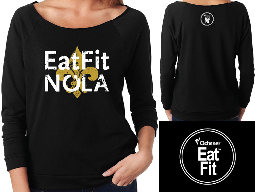 Eat Fit NOLA Women's French Terry 3/4 Sleeve