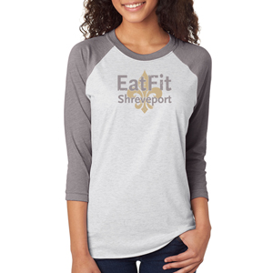 Eat Fit Shreveport Unisex 3/4 Sleeve