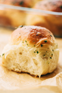 Dinner Rolls with herb butter